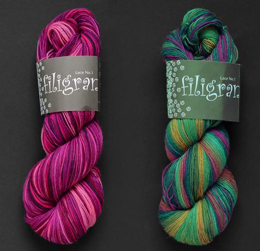 Atelier Zitron Filigran, madejas 100% merino extrafino superwash teñido a mano