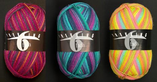 Atelier Zitron ovillos Trekking 6 Fach, 150 gramos 75% lana superwash, 25% acrílico