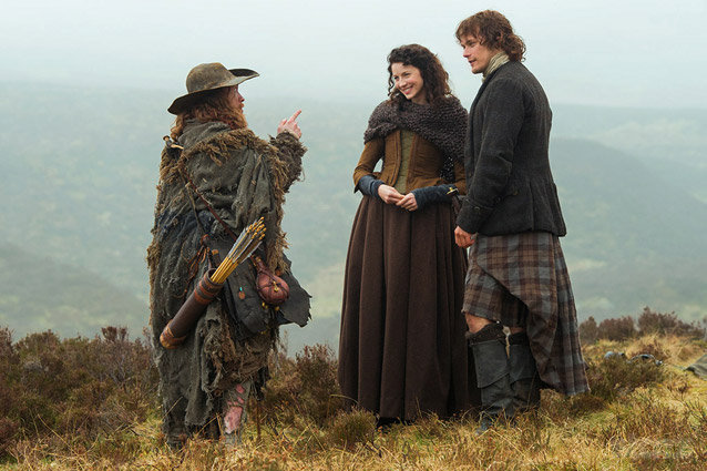 Outlander ropa de lana en series de tv