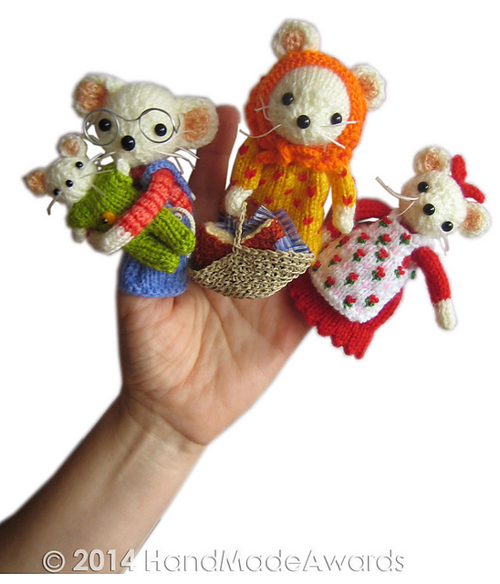 The little house of cheese family mouse finger puppets