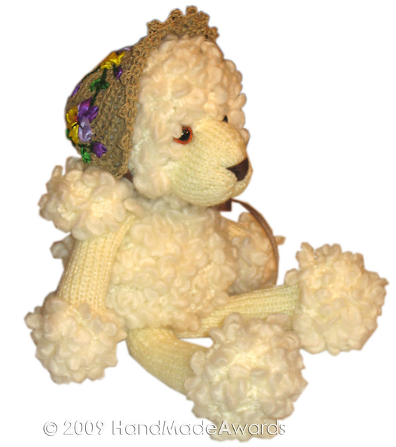 Poodle with Spring Hat