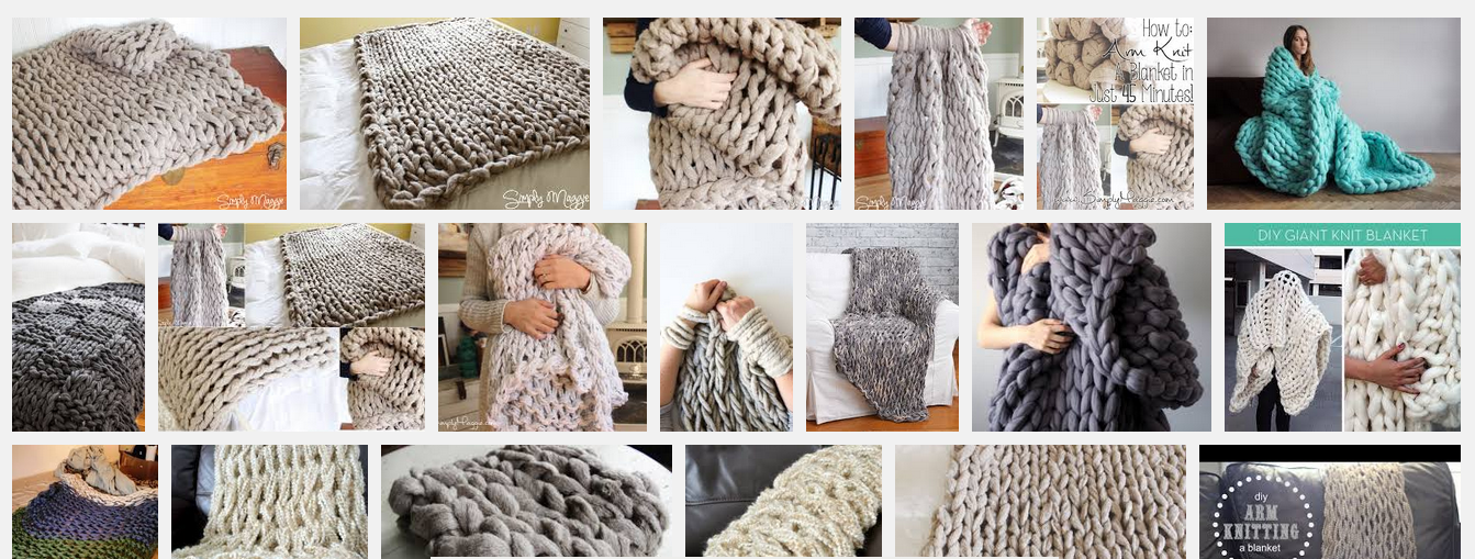 arm knitting XXL