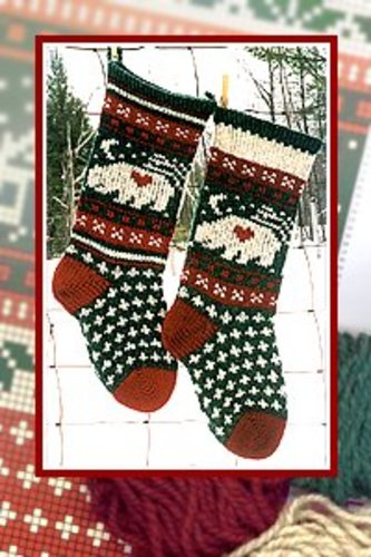 Annie's Woolens Bear Christmas Stocking