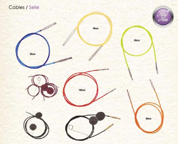 Cablespara puntas de agujas intercambiables knit pro